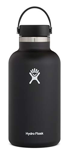 Hydroflask Unisex - Adult Flex Cap Water Bottle, Black, 1893 ml