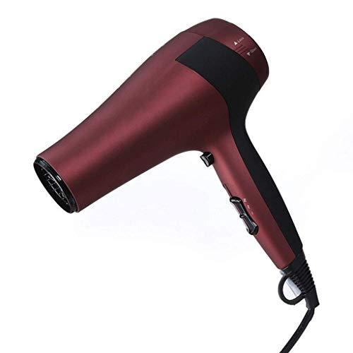 LLAMN Sèche-Cheveux Professionnel ionique, sèche-Linge Moteur à Courant continu avec Bouton de Refroidissement Touche sèche-Cheveux 2 Vitesses 3 réglages de Chaleur avec buse concentrateur Rouge cola