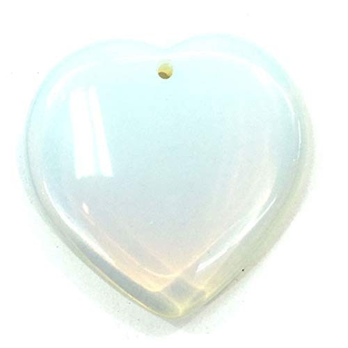Simple and stylish Crystal Pendants, Natural Stone Heart-shaped Crystal Agate Necklace Pendents Are Used for Diy Necklace Making Stone Pendant Suitable for Weddings Holidays and Gifts the Size is 40x4