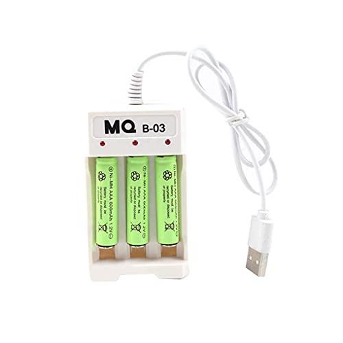 Mingtongli Caso de Carga del Cargador de la batería 3 Ranura para AA AAA Batería Recargable Cargador Universal células