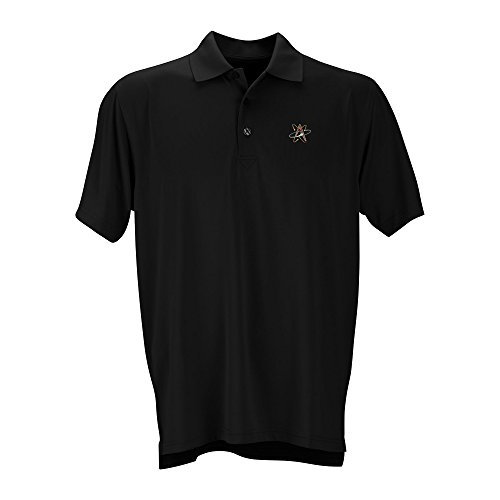 Vantage Apparel Minor League Baseball Albuquerque Isotopes Men's Performance Mesh Polo Shirt, Medium, Black