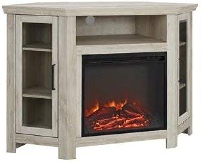 Amazon Com We Furniture 48 Corner Tv Stand Fireplace Console