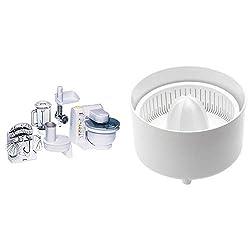 Bosch MUM4 MUM4655EU Küchenmaschine (550 W, 3 Rührwerkzeuge aus Edelstahl, spülmaschinengeignet, Rührschüssel 3,9 Liter, max Teigmenge: 2,0kg, Durchlaufschnitzler 3 Scheiben, Fleischwolf, Mix-Aufsatz)