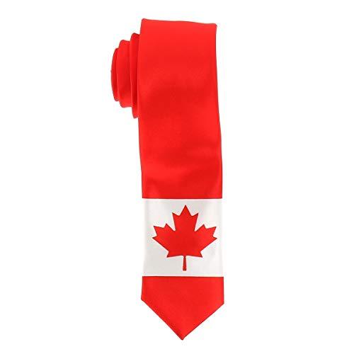 Kanadische Flagge Krawatte - Kanada Land Farben - Kanadisches Maple Leaf Ahornblatt Krawatte - Mann oder Frau - Veranstaltung oder Kostüm