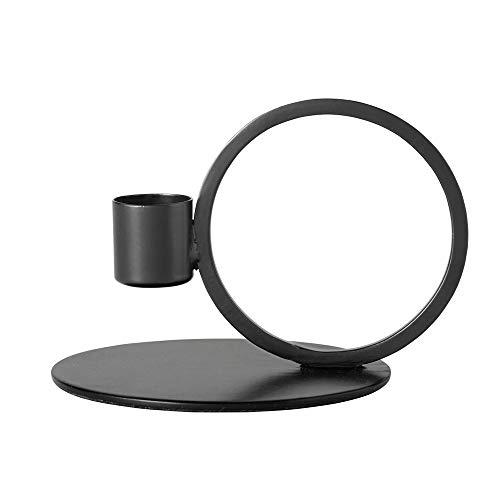 Nordal Kerzenhalter Circle schwarz