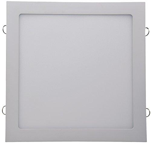LED Licht-Panel Wand Decke Einbau I Eckig 12-30 cm I 230V I 6-24W I inkl. Trafo I 12mm flach I Lichtfarbe wählbar (neutralweiß, 30 x 30cm)