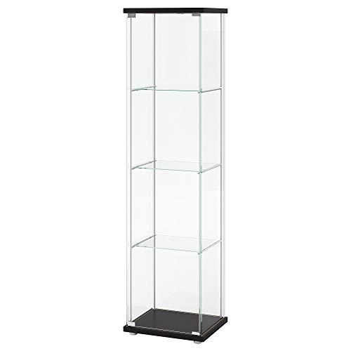 IKEA Glass-Door Cabinet, Black-Brown