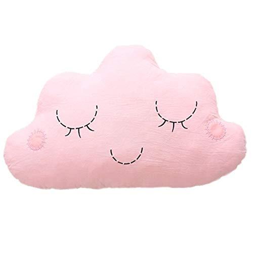 Nunubee Cloud-förmige zierkissen mit füllung Spielzeug deko Kissen Kurze Plüsch Baumwolle PP Baumwolle Wohnzimmer Sofa Office dekorative babyzimmer deko Geburtstagsgeschenk, Rosa 50 * 30cm