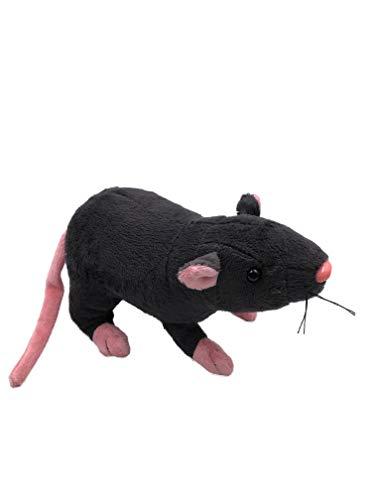Onwomania Plüschtier Kuscheltier Stoff Tier Ratte Maus schwarz Nagetier 31 cm