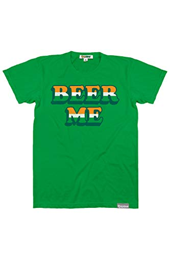 Men's Funny St. Patrick's Day Shirts - St. Patty's Day T-Shirts Apparel for Guys (Beer Me, Large)