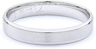 Breuning 18K White Matte & Shiny Finish Wedding Ring [BR5618]