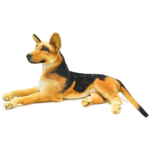 VIAHART Hilde The German Shepherd   34 Inch (Tail Measurement Not Included!) Big Stuffed Animal Plush Dog   Shipping from Texas   by Tiger Tale Toys