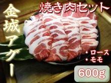 金城アグー 焼肉セット(もも肉・肩ロース 各300g) & 加工商品Wセット 金城ミート 旨み成分たっぷりの豚肉とウィンナーやハムの詰め合わせ