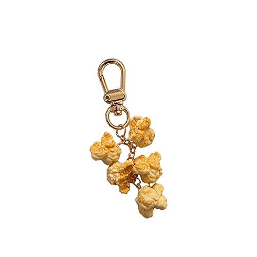 Heizung Accesorios de Anillo de Llaves Joyas Colgantes Super Lindos y realistas de Palomitas de Palomitas de maíz, adecuadas para Colgantes de Bolsas de Llaves de Coche o Regalos Encanto de Bolsas