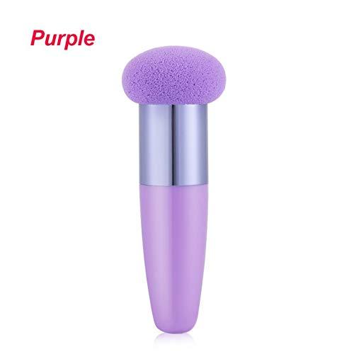 JINSUO 1pc éponge Douce Lisse en Forme de Champignon tête Powder Puff avec poignée Fondation Blender Maquillage Brosses Accessoires cosmétiques Outils (Color : StyleA Purple)