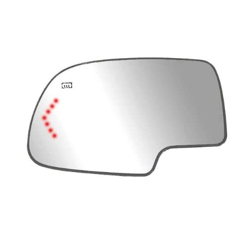 Fit System 40204 Passenger Side Heated Non-Dimming Mirror Glass with Backing Plate and LED Arrow Turn Signal Light
