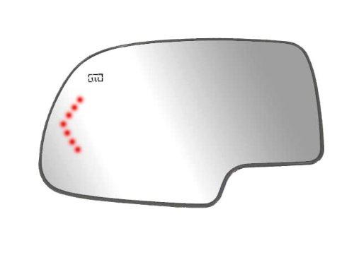 Driver Side Heated Mirror Glass w/ backing plate, Cadillac Escalade, Chevrolet Avalanche, Silverado, Tahoe, GMC Sierra, Suburban, Yukon, Silverado, Sierra Classic, Arrow signal, 4 3/8' mount