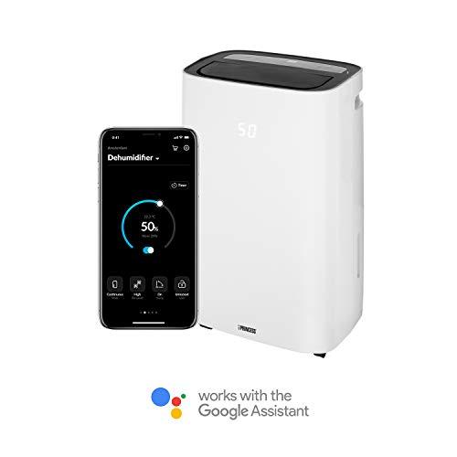 Princess Smarter Luftentfeuchter (App gesteuert, 20 Liter/ Tag, nur 42 dB Lautstärke, mit Timer-Funktion, auf Schwenkrädern) 353120