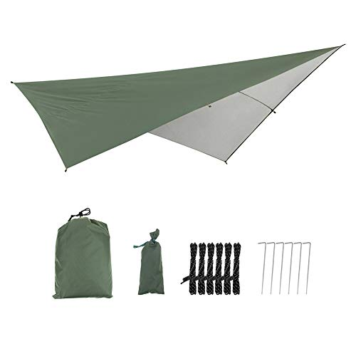 290X290Cm Waterproof Tarp Tent Shade Outdoor Camping Hammock Rain Fly Uv Garden Awning Canopy Sunshade Ultralight
