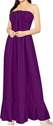 LA LEELA Women's Plus Size Summer Casual Tube Dress Beach Cover Up Hand Tie Dye
