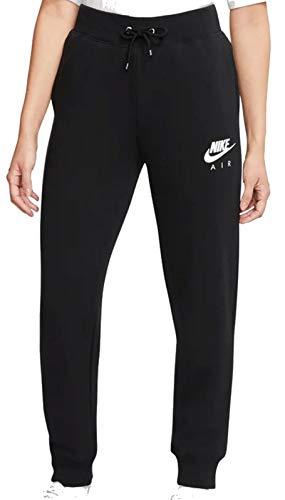 Nike Damen W NSW AIR Pant FLC BB Sport Trousers, Black/(Ice Silver), S