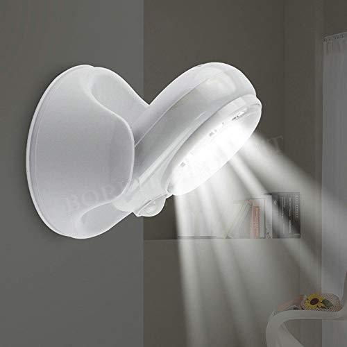 Noche Infantil Sensor de movimiento infrarrojo inalámbrico Lámpara de luz de 360 grados Rotación Movimiento Lámparas de pared Luz de noche Luz de noche Luces al aire libre para escaleras de dormitor