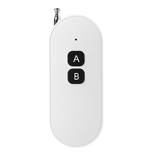 bfh 433MHZ Rango de Interruptor de transmisor de relé de RF de Control Remoto, para Luces LED Control de Acceso de Motor de Puerta eléctrica con Antena telescópica Botón Grande Diseño Suave