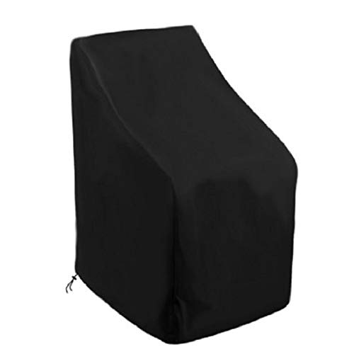 YDL Cubierta de Silla Mesa de jardín Sofá Cubierta de Asiento Profundo a Prueba de Agua Polvo Resistente a la UV Muebles de Exterior Muebles Oxford Paño (Color : Black)