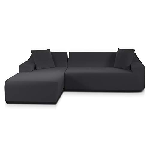 TOPOWN Funda Sofa Chaise Longue Impermeable 3 plazas, Funda Chaise Long Elastica...