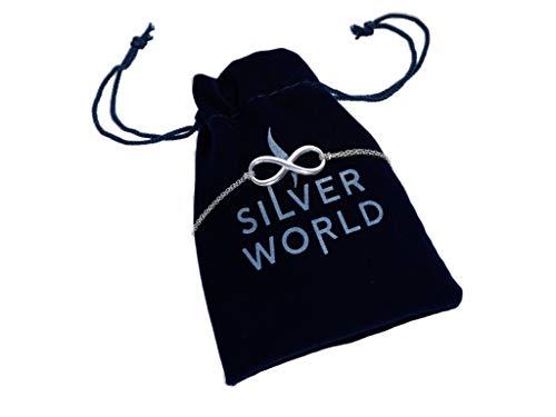 Pulsera de mujer Infinity, plata 925, joya para mujer, antialérgica, pulsera de plata con símbolo del infinito, regalo para madre, novia, día de la madre