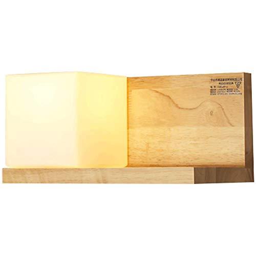 Lámpara de piso de piso Lámpara de pared de madera maciza nórdica Estilo japonés Entrada Aisle Sala de estar Dormitorio Lámpara de noche Lámpara de pared Estantes de la pared Luces de estantería