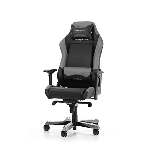 DXRacer Iron Series I11-NG Bürostuhl aus Kunstleder, Schwarz-Grau