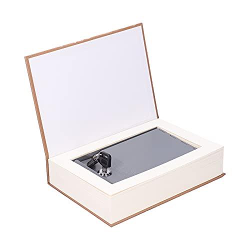 Les-Theresa Diversion Caja Fuerte para Libros con Cerradura Caja de Seguridad innovadora con Llaves Caja de Almacenamiento de Dinero en Efectivo con Forma de Libro simulado Moneda con Cerradura