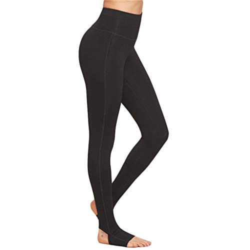 Qmber Yoga Hosen Damen Sport Hosen Leggings Pants Jogging Yogahose Running Slim Skinny Fit Straight Stretch Relaxed Gym Füße treten schnell trocknen Laufen Hosen Laufen Lassen/Schwarz,M