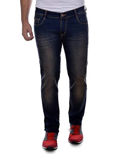 Ben Martin Men's Regular Fit Jeans (BMW7-JJ-3-BROWN_34-01_Dark Blue & Brown_34)