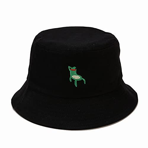 Bucket Hat Frog Gorro De Pescador Hombre Plegable Sombrero Cubo Mujer Regalos UPF50+, Algodón 56-58cm, Black