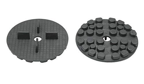 Gummi Plattenlager Stelzlager Terrassenlager Terrassenplatten Bodenplatten Fugen (100, Gummi Plattenlager)