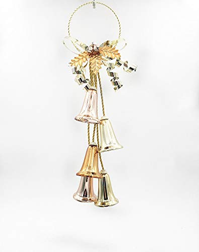 BOSSTER Adorno de árbol de Navidad Hierro Campanas de Árbol de Navidad Navidad Pequeñas Campanas para Kits de...