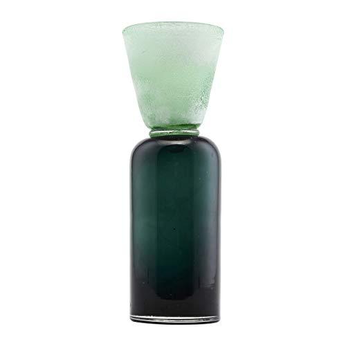 House Doctor Kerzenständer, Funnel, Blau Grün, Dm: 9 cm, h.: 28 cm, Glas