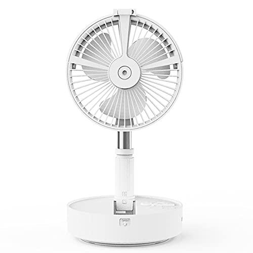 GQTYBZ Ventilador de pie, plegable, portátil, telescópico, con ventilador de control remoto, 4 velocidades, batería recargable de 7200 mAh, mini ventilador USB para el hogar al aire libre y la oficina