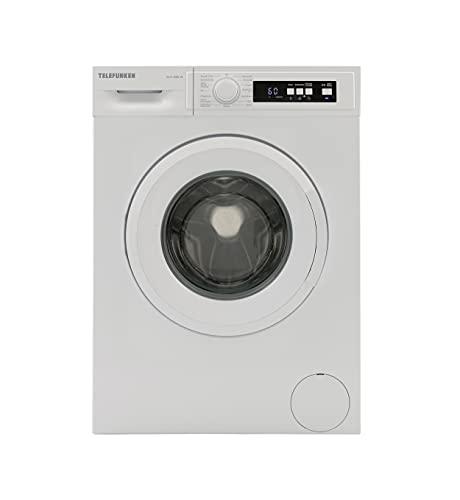 Telefunken W-6-1000-W Waschmaschine (6 kg / 1000 U/Min) mit LED Display, Mengenautomatik und Überlaufschutz