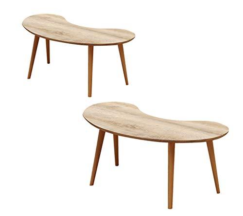 Computerbureau ovaal salontafel, salontafel woonkamer creatief eenvoudig hout insectentafel slaapkamer grootte aantal combinatie (kleur: A-88 x 47 x 40 cm) A-88 x 47 x 40 cm + 110 x 59 x 45 cm.