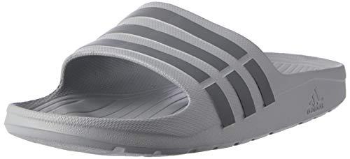 Adidas Duramo Slides, Ciabatte Uomo, Grigio (Clear Onix/Grey/Clear Onix), 42 EU