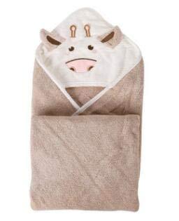 hetang Toalla de baño para niños, toalla de baño de algodón, toalla de baño para niños, manta para recién nacidos (color: marrón)