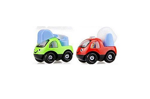 子供のおもちゃ漫画はエンジニアリングカーを引き戻す教育玩具は自動車(2パック)ランダムカラーを引き戻す