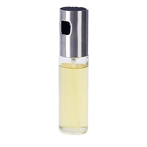 Rociador de aceite de oliva, botella de spray de aceite de vidrio Contenedor de aceite vacío Botella de vinagre Dispensador de aceite para cocinar, ensalada, barbacoa, hornear en la cocina, asar