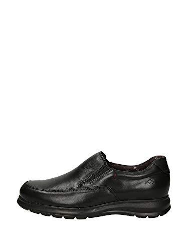 Fluchos | Zapato de Hombre | Zeta F0603 Soft Negro Zapato Confort | Zapato de Piel de Vacuno de Primera Calidad | Cierre con Elásticos | Piso Ligero de Goma EVA dotado de la tecnología Shock Absorber