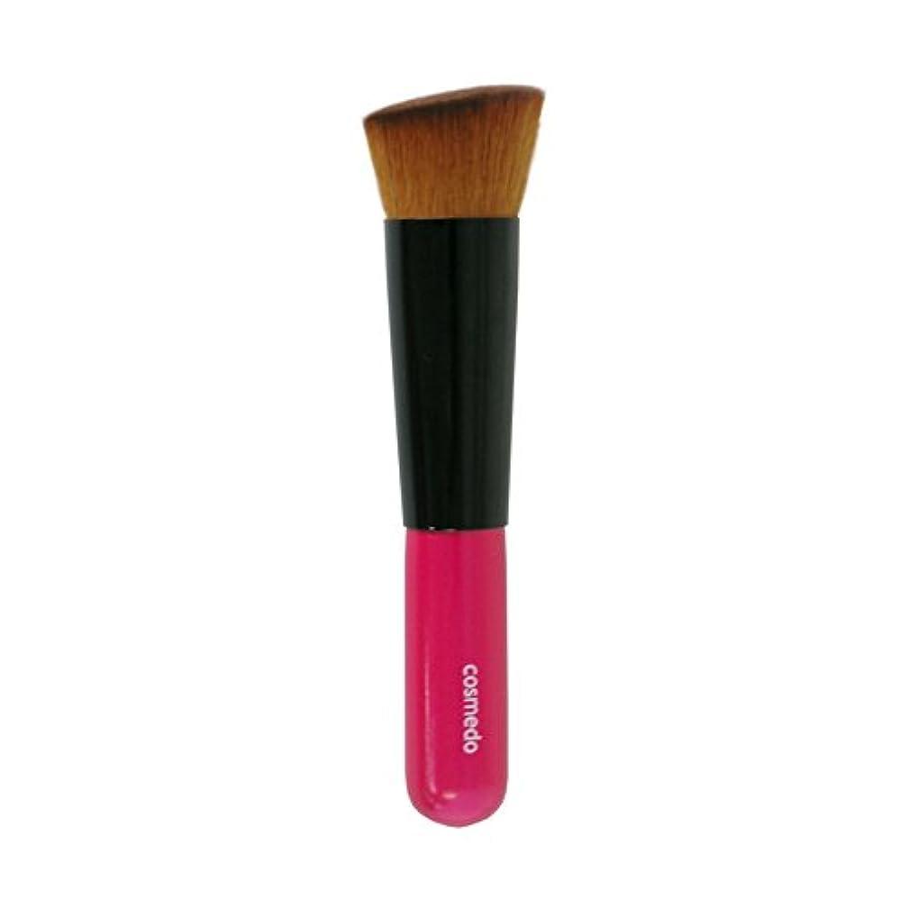 優雅なクール気をつけて熊野筆 匠の化粧筆 コスメ堂 斜め フラット ファンデーションブラシ PBT 日本製 ( メイクブラシ フェイスブラシ/チークブラシ )PK-LQ11