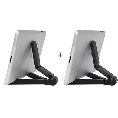Yinaa Soporte para Móvil/Tablet Ajustable Universal Soporte Ajustable Soporte Multiángulo portátil para Tablets Stable Non Slip Silicone 2 Black