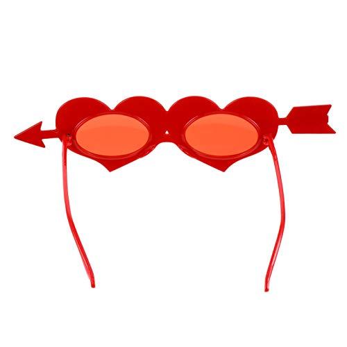 PRETYZOOM Gafas de Sol para El Da de San Valentn Gafas de Corazn Rojo Accesorios de Fiesta de San Valentn Gafas de Corazn de Amor Favores de Boda Y Fiesta de Cumpleaos Suministros
